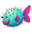 A colorful bubble fish vector image vector image