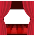 Abstract Cinema Flat Background vector image vector image
