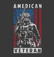 american veteran army vector image