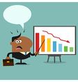 Angry Businessman Pointing to a Board vector image vector image
