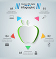apple health - business infographic vector image vector image