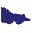 australia victoria state silhouette vector image vector image