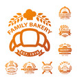 bakery gold badge icon fashion modern style wheat vector image vector image