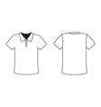 Blank front and back polo t-shirt design template vector image vector image