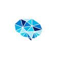 brain diamond logo icon design vector image vector image