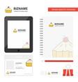 cake business logo tab app diary pvc employee vector image vector image