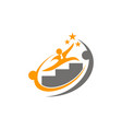 career coaching logo design template vector image vector image