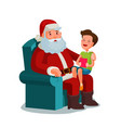 christmas or new year happy child sitting on lap vector image