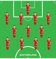 Computer game Switzerland Football club player vector image