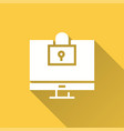 computer security - icon for graphic and vector image vector image