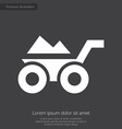 construction wheelbarrow premium icon white on dar vector image