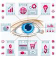 creative infographics human eye looking eye vector image vector image