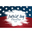 creative poster or banner patriot day vector image vector image