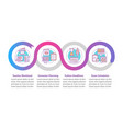 distance learning elements infographic template vector image vector image