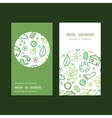 ecology symbols vertical round frame pattern vector image vector image