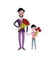 Father and kid together character vector image vector image