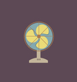 Flat Design Electric Fan vector image
