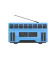 flat icon of blue hong kong tramway public vector image