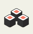 food -set of sushi roll with nori modern 3d flat vector image vector image