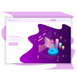 freelance site landing page vector image vector image