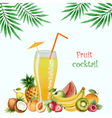 Fruit drink in glasses vector image vector image