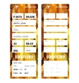 Gold boarding pass vector image vector image