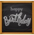 Happy Birthday card Handdrawn lettering vector image vector image