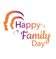 happy family day card vector image vector image