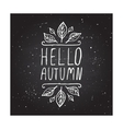 Hello Autumn - typographic element vector image