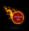 hot discounts before christmas on a black vector image vector image