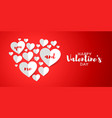i love you happy valentines day greeting card vector image vector image