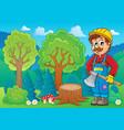 image with lumberjack theme 2 vector image