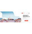 industrial sea port cargo logistics container vector image vector image