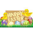 isolated easter sign vector image vector image