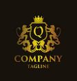 luxury letter q logo vector image vector image