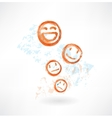 Many smiles grunge icon vector image vector image
