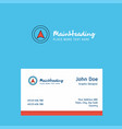 map pointer logo design with business card vector image vector image