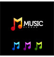 music logo design vector image
