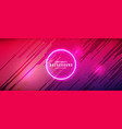 neon glowing futuristic abstract background vector image vector image