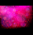 neon heart background disco party purple pink vector image