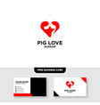 pig logo template free business card mockup vector image