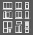 plastic windows flat set vector image