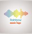 rainbow music logo vector image vector image