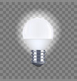 realistic detailed light bulb on a transparent vector image