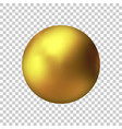 realistic gold metal sphere golden ball vector image vector image