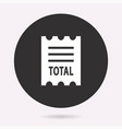 receipt - icon isolated vector image