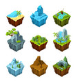 rock fantasy islands for computer games isometric vector image vector image