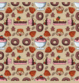seamless pattern 5 of sweet pastries cupcake vector image