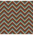 Seamless Zigzag knitting pattern vector image vector image