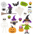 set isolated halloween elements part 2 vector image